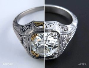 Before and after antique jewelry repair picture