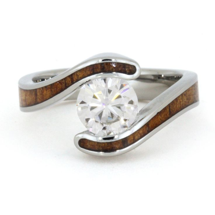 wood engagement rings