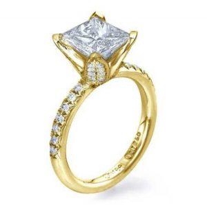 Yellow Gold Princess Cut Engagement Ring