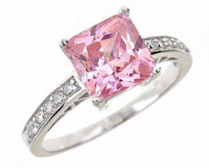 Pink Princess Engagement Ring