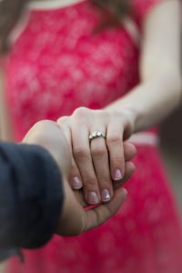 Engagement Ring Photo with clean nails